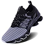 Jointlycreating Mens Fashion Sports Gym Shoes Workout Casual Breathable Walking Running Sneakers, 1-Black