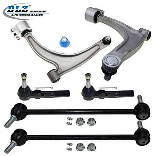 dlz-6-pcs-suspension-kit-2-lower-control-arm-ball-joint-assembly-2-outer-tie-rod-end-2-sway-bar-for-