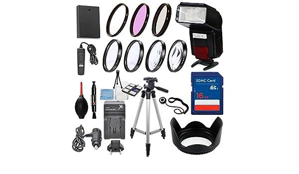 58 mm 13 piezas Kit de accesorios para Canon EOS Rebel T6, T5, T3 ...