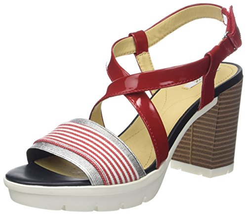 Rouge B Sandales Gintare Ouvert Bout D red Femme Geox vwS6q