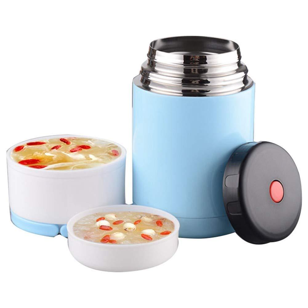 CMXHGKDJ Flasche  Vorratsbehälter für Kinder Kids Thermos Lunch für Suppenthermosbecher auslaufsicher Edelstahl Thermische Lunchboxen