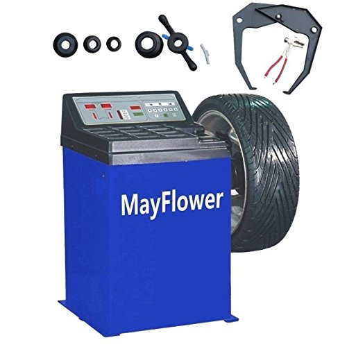 Mayflower - Wheel Balancer Tire Balancers Machine Rim Car Heavy Duty 680/1 Year Full Warranty (Best Tire Balancing Machine)
