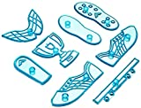 JEM Cutters Soccer Boot, Blue, Standard