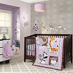 Lambs & Ivy Ladybug Jungle Girl's 4 Piece Bedding Set
