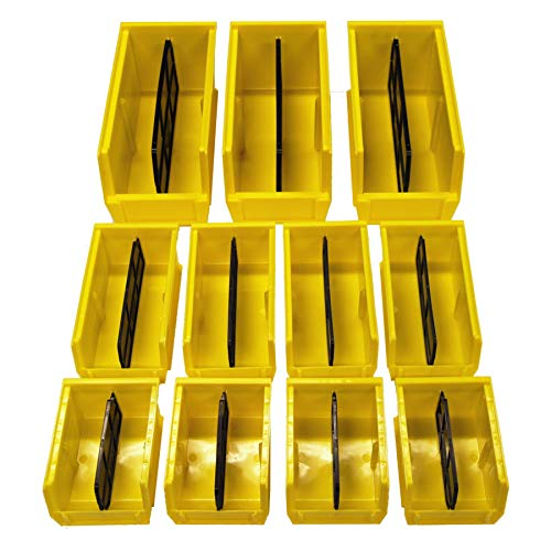 Secure It Gun Storage Bin Kit 344 Storage Bin Kit: 11 Bins with Divider, Includes 3 Large Bins, 4 Medium Bins, 4 Small Bins, Great to Store Spare Mags, Ammo, and Accessories, Easy Clip to Grid Wall