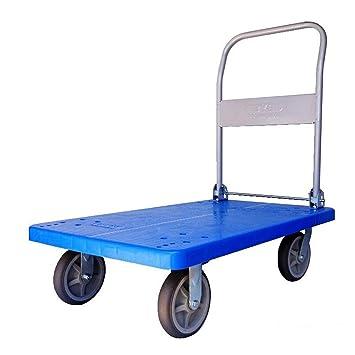 Carretillas de plataforma, Warehouse Garden Garage Workshop Plegable de plataforma plana Transporter Home Trolley, Tamaño: 102x62cm (Tamaño : C): Amazon.es: ...