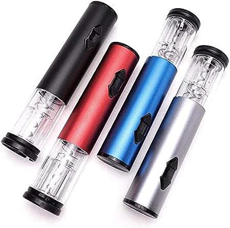 Sacacorchos de vino eléctrico portátil para el hogar Sacacorchos de vino, accesorios de cocina con papel de aluminio cortador de papel azul