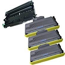 4PK-3 High Yield InkFirst® Toner Cartridges + 1 Drum Unit TN-360 DR-360 Compatible Remanufactured for Brother TN-360 DR-360 (3 toner + 1 drum) DCP-7030 DCP-7040 MFC-7340 MFC-7345N MFC-7440N MFC-7840W HL-2140 HL-2170W