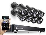 Amcrest AMDV960H8-8B 8CH 1TB DVR Security Camera System w/ 8 x 800+ TVL Bullet Cameras (Black) (Certified Refurbished)