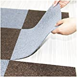 Big Area Rugs DIY Rug Splicing Joint Mat, LeHom Modern Area Rugs 8 Pieces, Thin Door Mats Indoor for Living Room, Kitchen, Could Be Home Office Large Area Rugs(4 Brown, 4Gray)