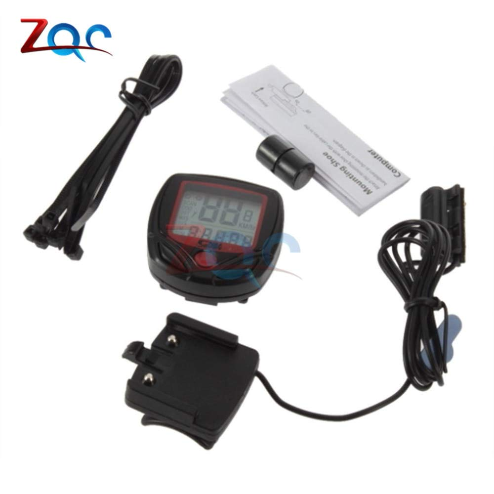 Waterproof bicycle speedometer cable odometer riding stopwatch AHS
