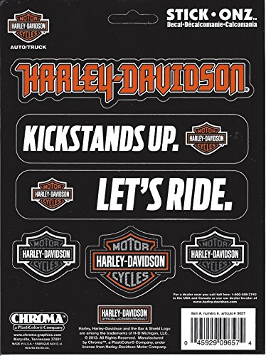 Harley-Davidson Multiple Sayings with Bar & Shield Decal (Diesel Harley Davidson)
