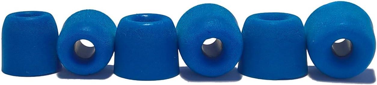 Juego de 10 Unidades Compatible con la mayor/ía de o/ído en Marca Auriculares. The Case Market 5 Pares Memory Foam Almohadillas Almohadillas para Auriculares in-Ear M, Blue