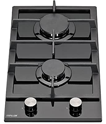 MILLAR GH3020TB 30cm Built-in 2 Burner Domino Gas on Glass Hob / Cooker / Cooktop with FFD