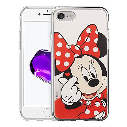 iPhone 8 Plus/iPhone 7 Plus Case Disney Cute Soft Jelly Cover for [ iPhone 7 Plus/iPhone 8 Plus ] Case - Heart Minnie Mouse