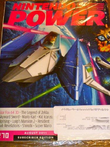 Nintendo Power August 2011 Star Fox 64 3D Legend of Zelda Skyward Sword Luigi's Mansion 2