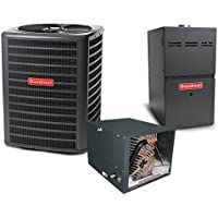 3 Ton 13.5 SEER 100k BTU 80% AFUE 2 Stage Variable Speed Goodman Central Air Conditioner & Gas Split System - Horizontal