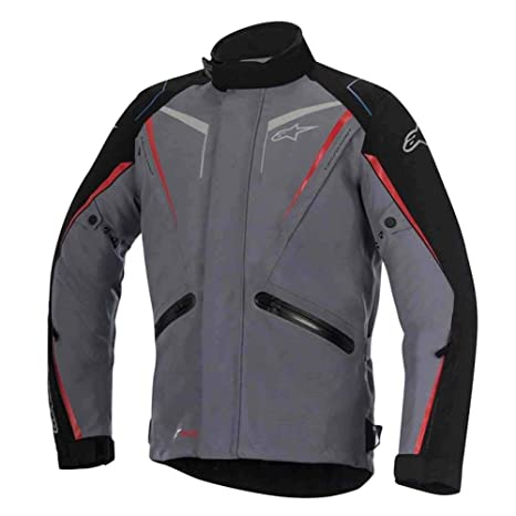Alpinestars Drystar De Yokohama textil para hombre motocicleta Chaquetas – gris oscuro – 4 x -