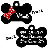 Cute Minnie Bow Double Sided Pet Id Dog Tag Personalized for Your Pet
