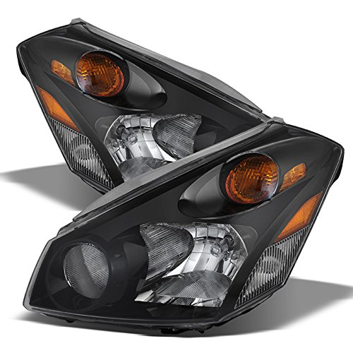 ACANII - For Replacement Headlamps Black 2004-2009 Quest Van Headlights 04-09 Driver + Passenger Side