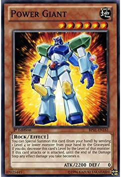 YuGiOh : BP01-EN161 1st Ed Power Giant Common Card - (Epic Dawn Battle Pack Yu-Gi-Oh! Single Card)  by Konami: Amazon.es: Juguetes y juegos