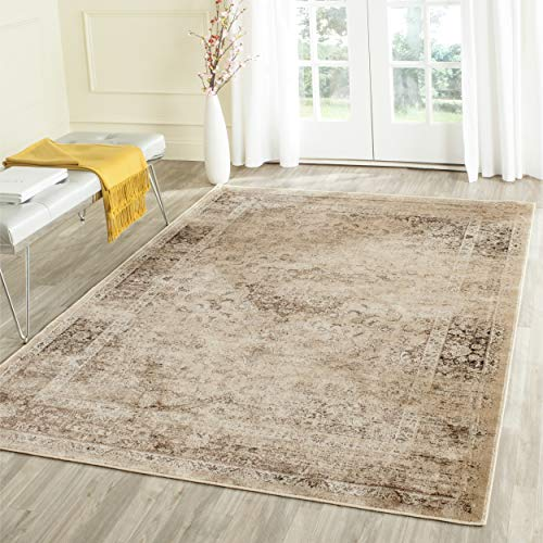 Safavieh Vintage Premium Collection VTG113-660 Transitional Oriental Warm Beige Distressed Silky Viscose Area Rug (4' x 5'7