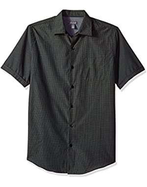 Men's Air Windowpane Short Sleeve Shirt