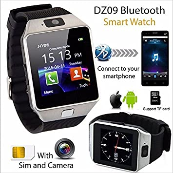 Reloj Inteligente SmartWatch GSM SIM Bluetooth Camara FR Movil iOS Android Watch: Amazon.es: Electrónica