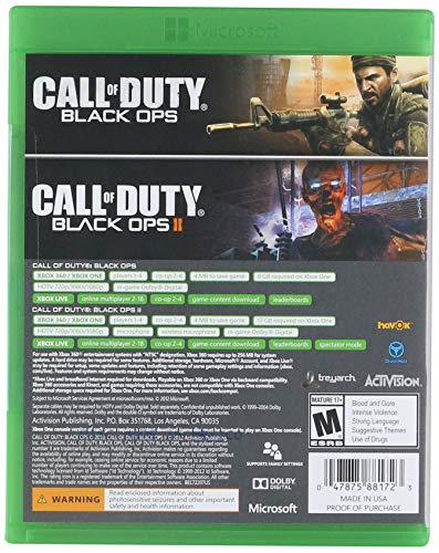 Amazon Com Activision Call Of Duty Black Ops 1 2 Combo Pack