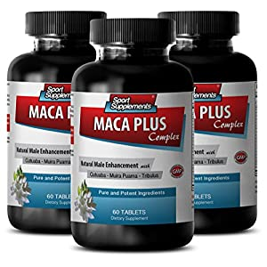 Enhancement pills for men king size – MACA PLUS COMPLEX – NATURAL MALE ENHANCEMENT – Maca pills enhancement – 3 Bottles 180 Tablets