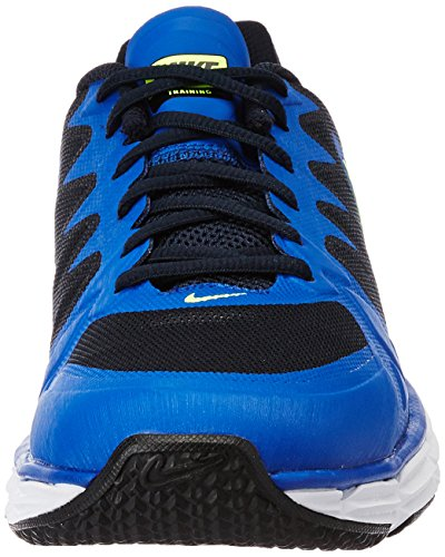 Nike Mens Dual Fusion Tr 6 Cross Trainer Ossidiana Scura / Gioco Royal / Bianco / Volt