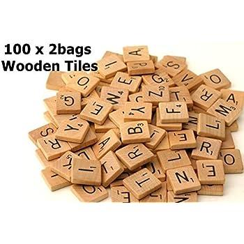 Fuhaieec 200 Wood Scrabble Tiles