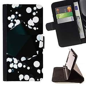 Momo Phone Case / Flip Funda de Cuero Case Cover - Resumen B & W de la salpicadura;;;;;;;; - Sony Xperia Z1 Compact D5503