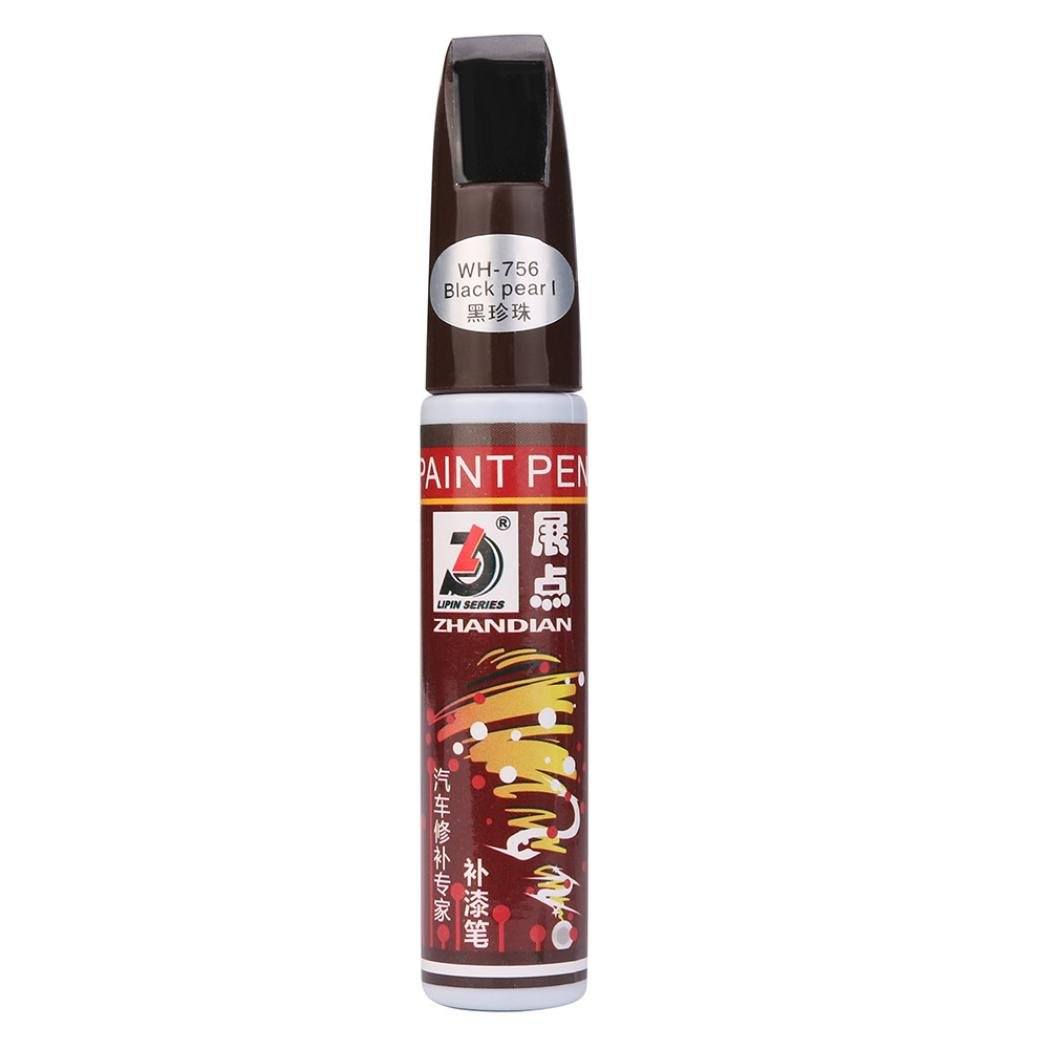 Glumes New Portable Fix It Pro Car Scratch Repair Remover Filler & Sealer Painting Pen Clear Car Coat Applicator for All Cars, Not for Deep Scratch(12ml) (Black)