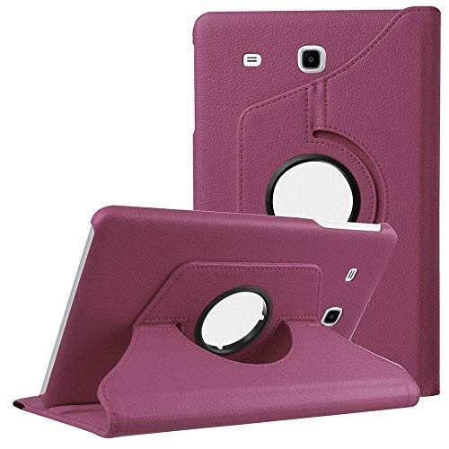 Mcart's 360° Degree Rotating  Swivel Stand  PU Leather Folio Flip Cover case for Samsung Galaxy Tab E 9.6 inch SM T561 T560 T565 T567V Flip Cover Case