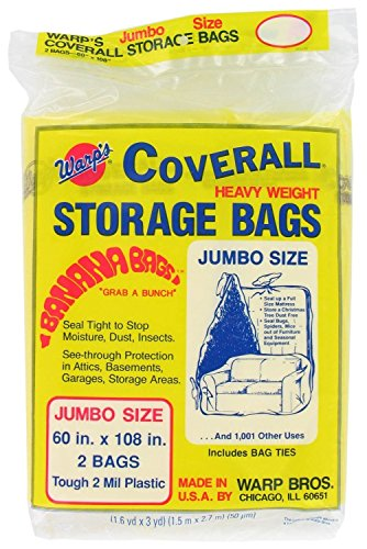 Warp's Storage Bags Banana Bags, Jumbo 60 x 108 in., 6 ct (3/2s) (Outdoor Furniture Covers Cushion Prices)