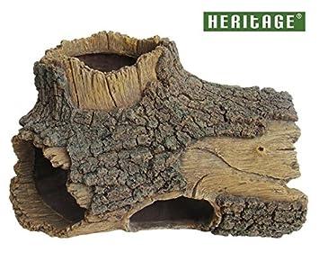 Heritage tb097 tanque de peces de acuario Árbol Log Ocultar adorno de natación pintada a mano decoración 26 cm: Amazon.es: Productos para mascotas