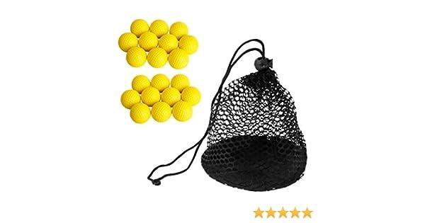 MagiDeal 20 Piezas Bolas de Golf PU Suave Espuma +1 Pieza Bolsa de ...