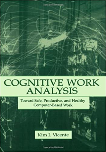 Book Cognitive Work Analysis: Toward Safe, Productive, and Healthy Computer-Based Work