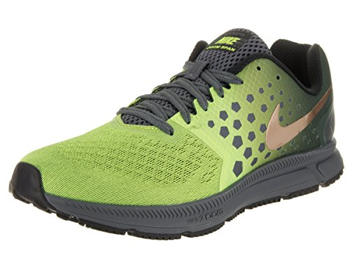 Nike Mens Zoom Span Shield Dark Grey/Mtlc Red Bronze/Volt Running Shoe 9.5 Men US