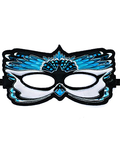Dreamy Dress-Ups Fanciful Feathered Friend Bird Mask, Blue Jay -