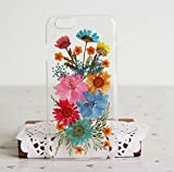 Rebbygena Personalized Pressed Flower iPhone 6/iPhone 6s Case for Women Girls Apple Smart Phone Case 4.7 inch