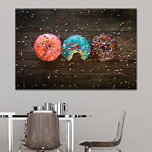 Donuts and Colorful Glaze Toppings Gallery