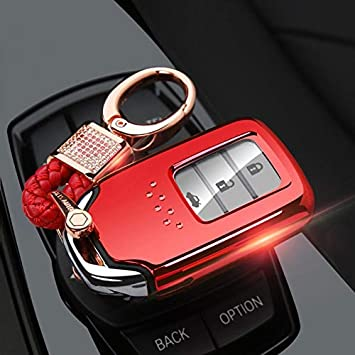 Red Silicone Case Cover For Honda Fit Odyssey Vezel Remote Smart Key 2 Buttons 3