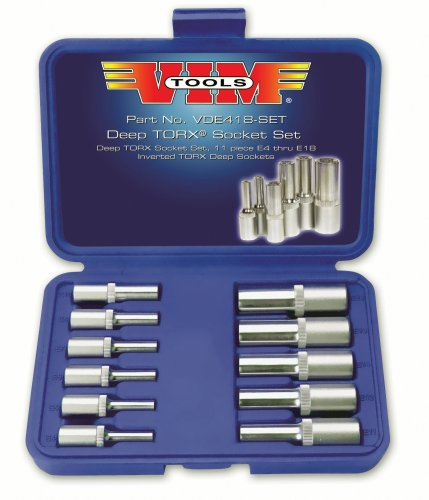 Tools VDE418 11 Piece Deep Socket