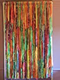 Multi Color Tie Dyed Hippie Curtains (Easter, Gypsy, Boho, Closet Curtain, Doorway Curtain Shabby, Shower Curtain, Photo Back Drop)