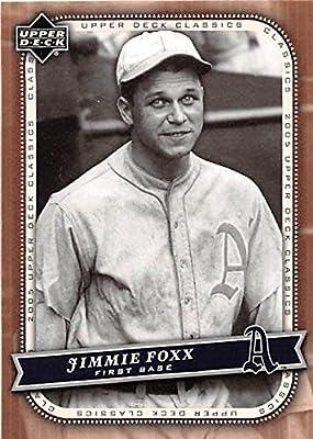 Jimmie Foxx Baseball Card Philadelphia Athletics Hall Of