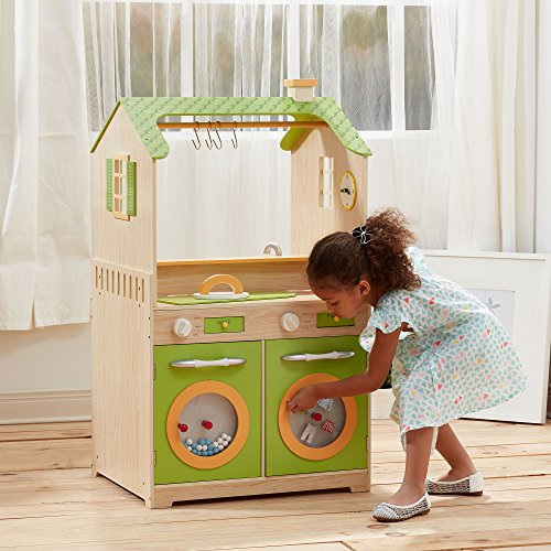 Green Play Kitchen With Dual Washers Set