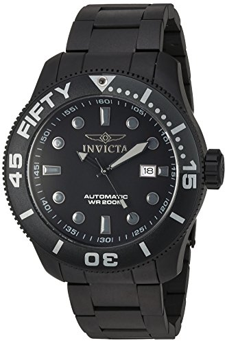 Invicta Men's 'TI-22' Automatic Titanium Casual Watch, Color:Black (Model: (Dial Titanium Water Resistant Watch)