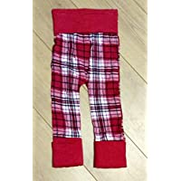 Red Plaid Grow With Me Harem Pants Size 12-36 Months